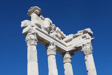 The Temple of Trajan on the Acropolis of Pergamon, Turkey.
