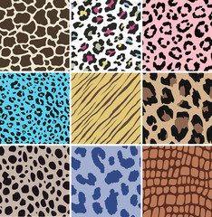 animal skin pattern set