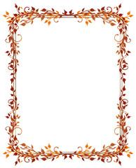 Herbst, Rahmen, Blätter, Laub, Ranke, flora, filigran