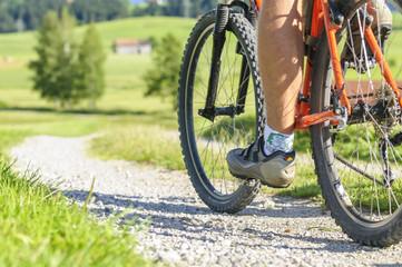 Tuinposter Fietsen Mountainbiken