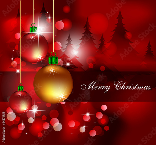 Mery Christmas red decoration\