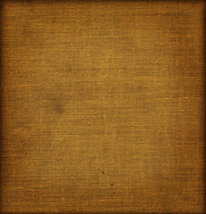 Brown textile background with frame