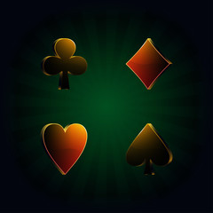 poker, vector illustration