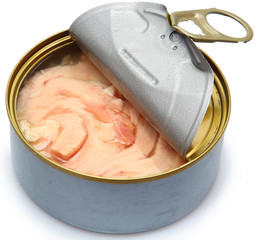 Canned soy free albacore white meat tuna packed in water.