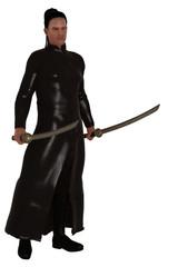 Fantasy modern day swordsman