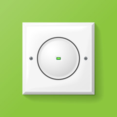 Rounded Lightswitch on eco green background