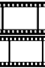 black film sheet on background white
