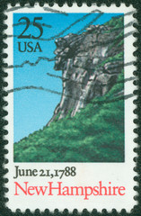 Stamp  shows Landscape with Cliff