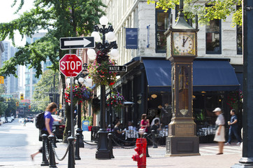 Gastown steam clock in Vancouver Wall mural