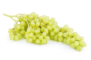 Ripe green yellow grapes