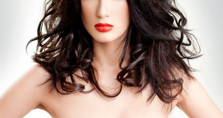luxurious brunette