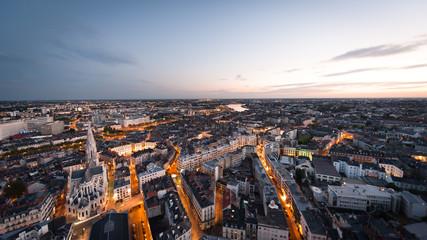 Nantes au crépuscule Fotomurales