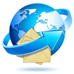 icone terre mail