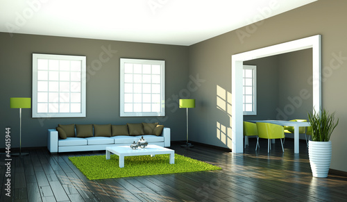 """bild wohnzimmer grün:Wohndesign – Wohnzimmer braun grün"""" Stockfotos und lizenzfreie"""