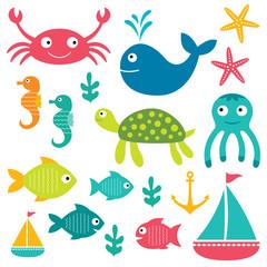 Sea life elements