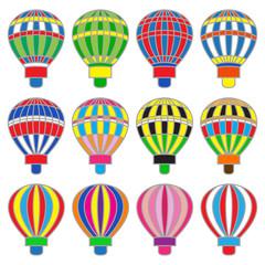 Set of colored aerostats