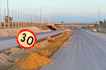 Building a new highway in Poland.