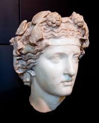 Head of Dionysus. Pentelic marble.