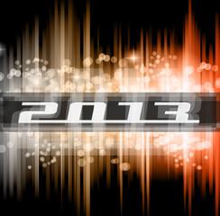 Hight Tech 2013 new year celebration poster.
