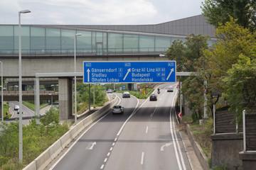 Stadtautobahn in Wien