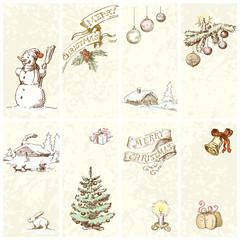 Christmas vintage banners