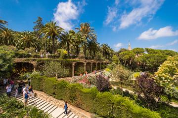 Autocollant pour porte Barcelona The famous Park Guell