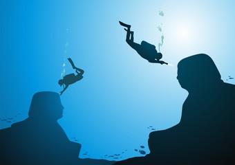 Sphinxes under water