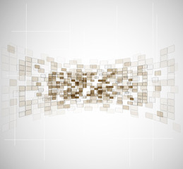 abstract fractal cube tecnology business background