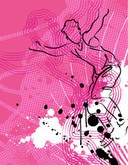 abstract active teen grunge line art