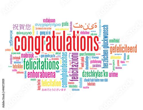 congratulations tag cloud achievement successful well done