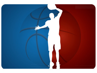Basketball background - vector illustration