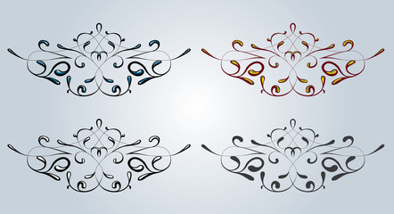 Retro styled vector elements