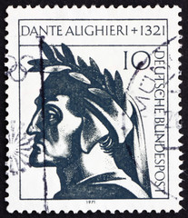 Postage stamp Germany 1971 Dante Alighieri, poet