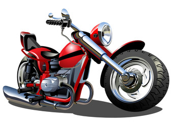 Photo on textile frame Motorcycle Vector Cartoon Motorcycle
