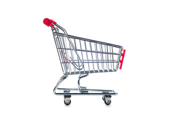 shopping cart isolated on white
