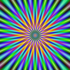 Fototapeten Illusion Flower Star