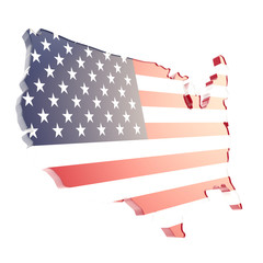 USA country shaped copyspace dimensional plate isolated