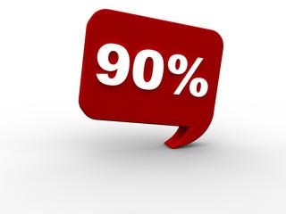 90 Prozent