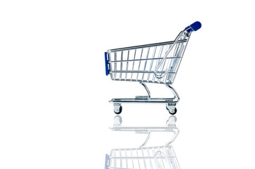 shopping cart isolate on white