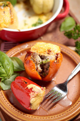 gefüllte Paprika mit Käse