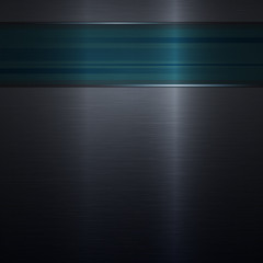 metal background blue