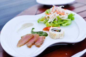 Swordfish Sashimi with Maki