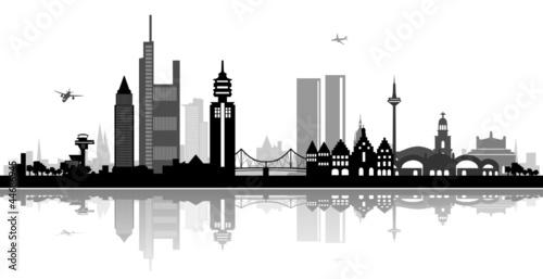skyline frankfurt am main stockfotos und lizenzfreie. Black Bedroom Furniture Sets. Home Design Ideas