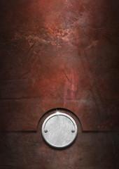 Foto auf AluDibond Schiff Grunge Metal Background