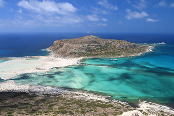 Balos beach at Crete island in Greece