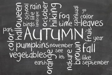 Fall or Autumn Word Cloud Concept