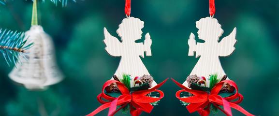 Christmas decoration of handmade angels