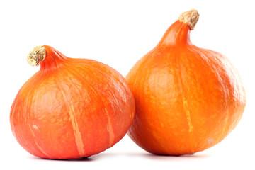 Hokkaido pumpkins isolated