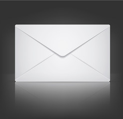 Vector envelope on black background. Eps 10