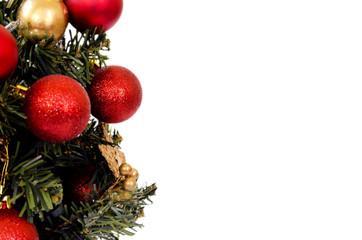 christmas tree close up isolation on white